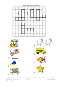 Picture Crossword Worksheet