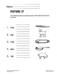 Picture It Worksheet
