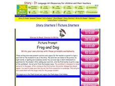 Picture Prompt: Frog And Dog Worksheet