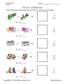 Picture Subtraction Worksheet