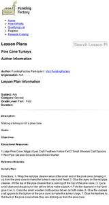 Pine Cone Turkeys Lesson Plan