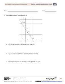 End-of-Module Assessment Task: Grade 8 Module 4 Assessment for 8th