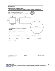 Pizza Crusts Worksheet