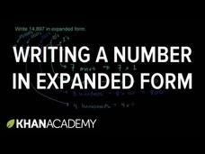 Writing a Number in Expanded Form Video