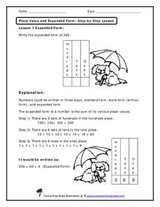 Place Value and Expanded Form Worksheet