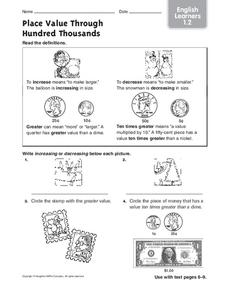 Place Value Through Hundred Thousands Worksheet