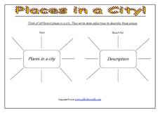 Places in a City Worksheet