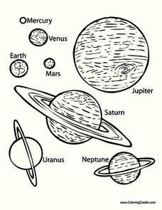Planets Printables & Template