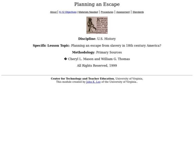Planning an Escape Lesson Plan