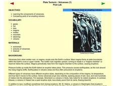 Plate Tectonic - Volcanoes Post Lab Lesson Plan