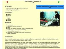 Plate Tectonic - Volcanoes Lesson Plan