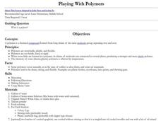 Playing With Polymers Lesson Plan