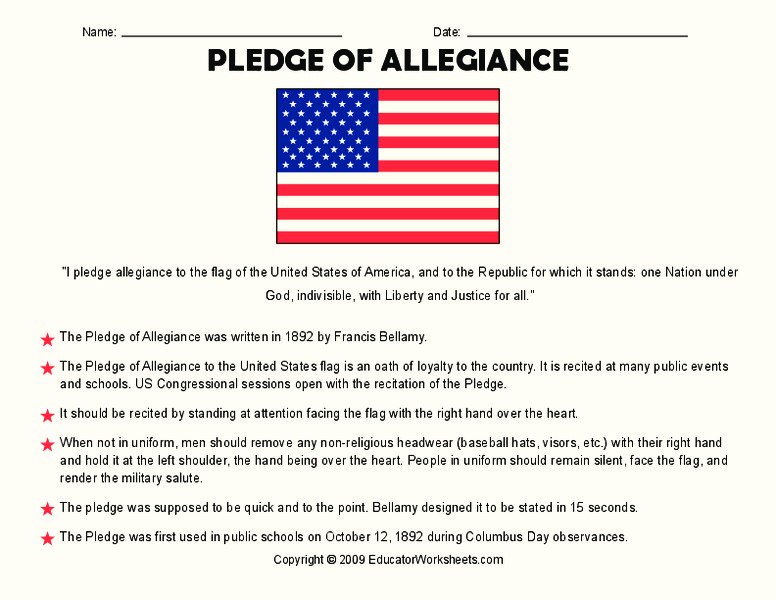an analysis of the historical meaning of the pledge of allegiance The words of the pledge echo the conviction held by the founders of this nation that our freedoms come from god congress inserted the phrase 'one nation under god' in the pledge of allegiance for the express purpose of reaffirming america's unique understanding of this truth, and to distinguish.