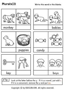 Plurals Worksheet