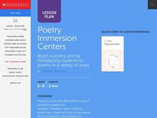 Poetry Immersion Lesson Plan