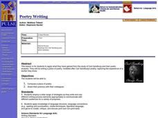 Poetry Writing Lesson Plan