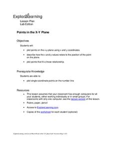 Points in the X-Y Plane Lesson Plan