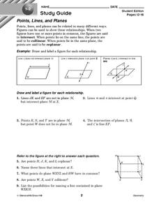 Points, Lines, and Planes Worksheet