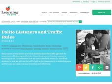 Polite Listeners and Traffic Rules Lesson Plan