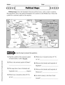 Political Maps Worksheet