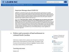 Politics and Economics of Land Settlement in Colonial North Carolina Lesson Plan