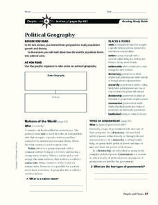 Political Geography Graphic Organizer