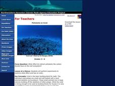 Pollutants on Coral Lesson Plan