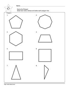 Polygons Worksheet