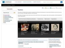 Library of Congress Learning Page: The Historian's Sources Lesson Overview Lesson Plan