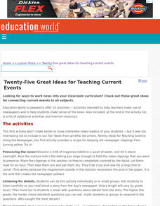 Twenty-Five Great Ideas for Teaching Current Events Lesson Plan