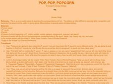 Pop, Pop, Popcorn Lesson Plan