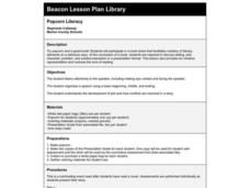 Popcorn Literacy Lesson Plan