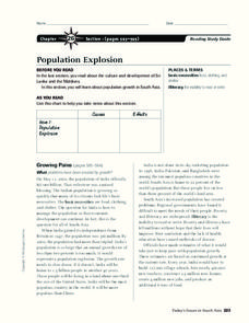 Population Explosion Worksheet