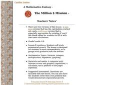 The Million $ Mission Lesson Plan