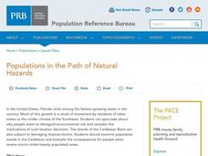Populations in the Path of Natural Hazards Lesson Plan