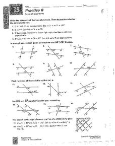 Postulates and Theorems Worksheet