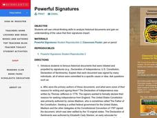 Powerful Signatures Lesson Plan