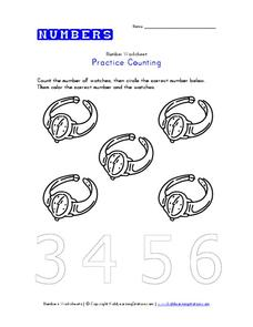 Practice Counting Worksheet