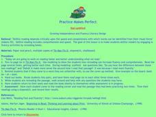 Practice Makes Perfect Lesson Plan