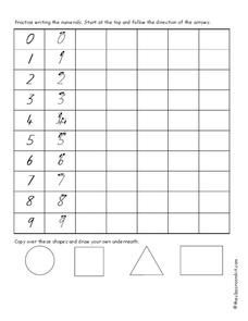 Practice Writing Numbers Worksheet