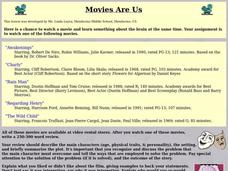 Movies Are Us Lesson Plan