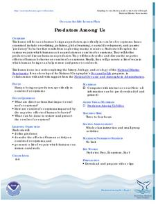 Predators Among Us Lesson Plan