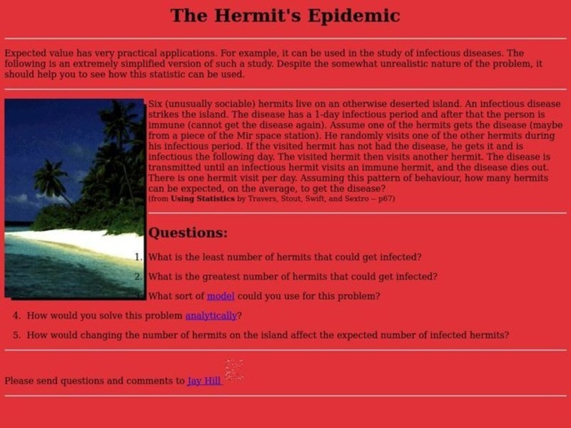 The Hermit's Epidemic Lesson Plan