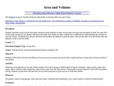 Area & Volume Lesson Plan