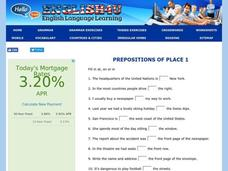 Prepositions of Place Interactive