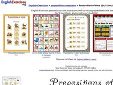 Prepositions of Time Interactive