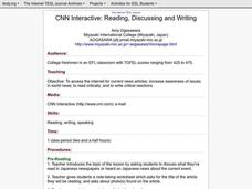 CNN Interactive: Reading, Discussing and Writing Lesson Plan