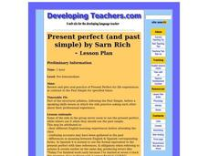 Present Perfect and Past Simple Lesson Plan