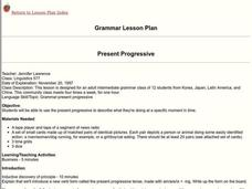 Present Progressive Lesson Plan