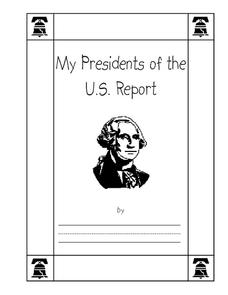 President Report Printables & Template